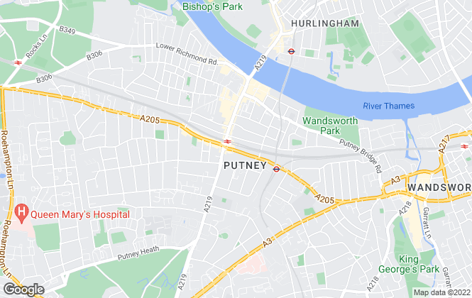 Map for Winkworth, Putney