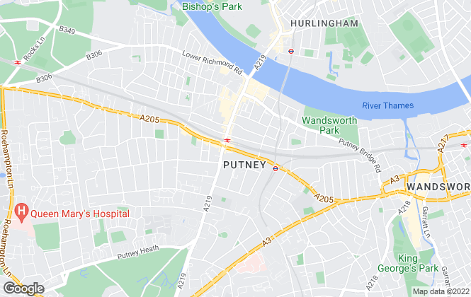 Map for Hamptons International Sales, Putney