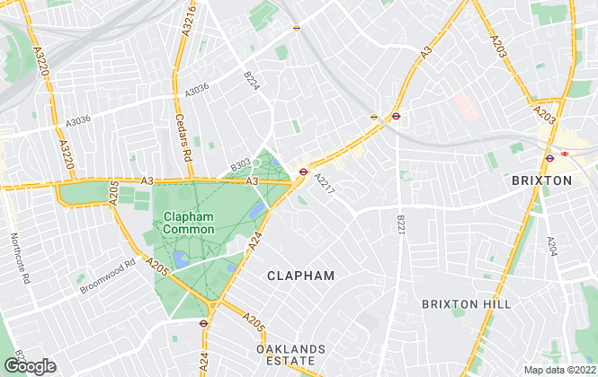 Map for Keating Estates, Clapham