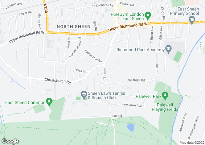 Map for Sheen Lane