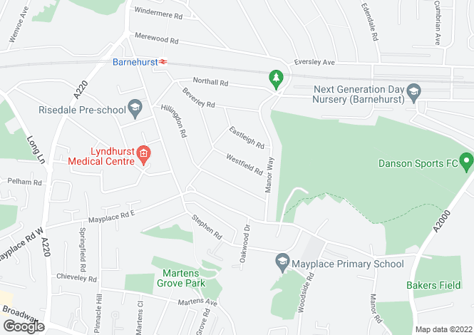 Map for Westfield Road, Bexleyheath DA7