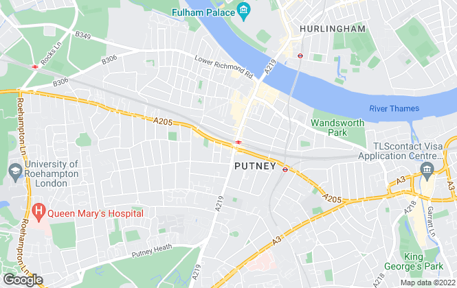 Map for Chamberland Residential, Putney