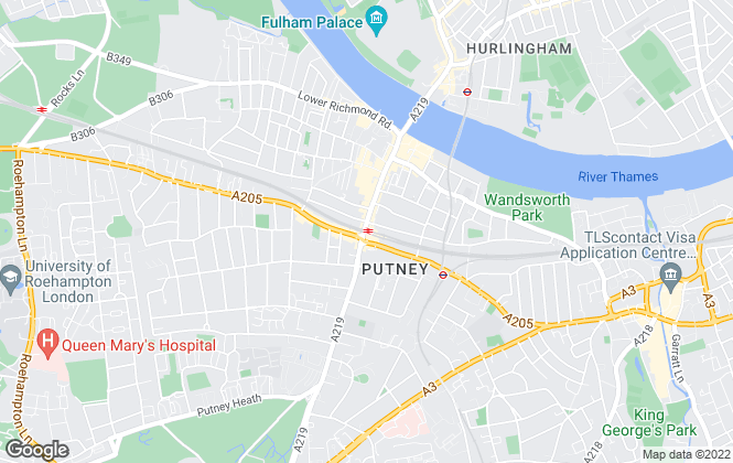 Map for Foxtons, Putney