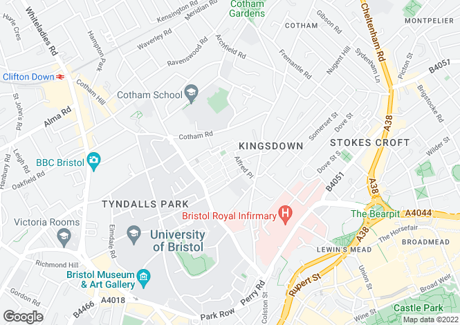 Map for 67 High Kingsdown,