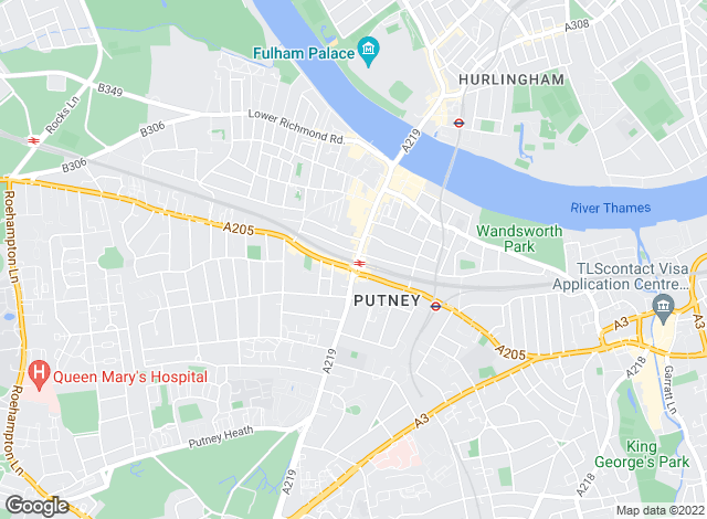Map for Andrews Lettings and Management, Putney