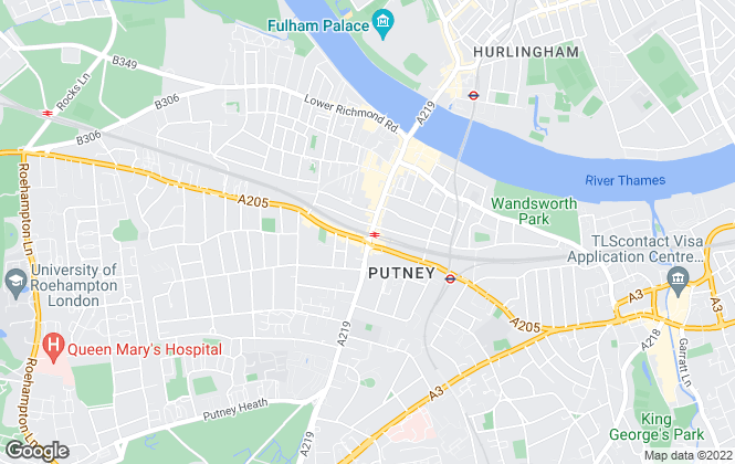 Map for Dexters, Putney