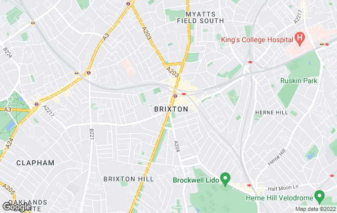 Map for Foxtons, Brixton