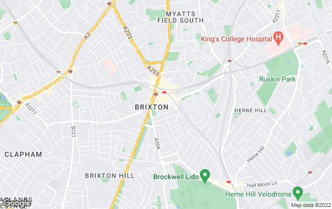 Map for Keating Estates, Brixton