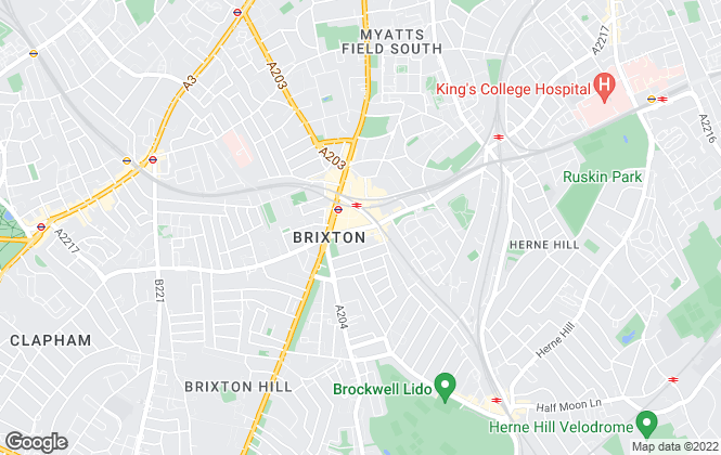 Map for Marsh & Parsons, Brixton