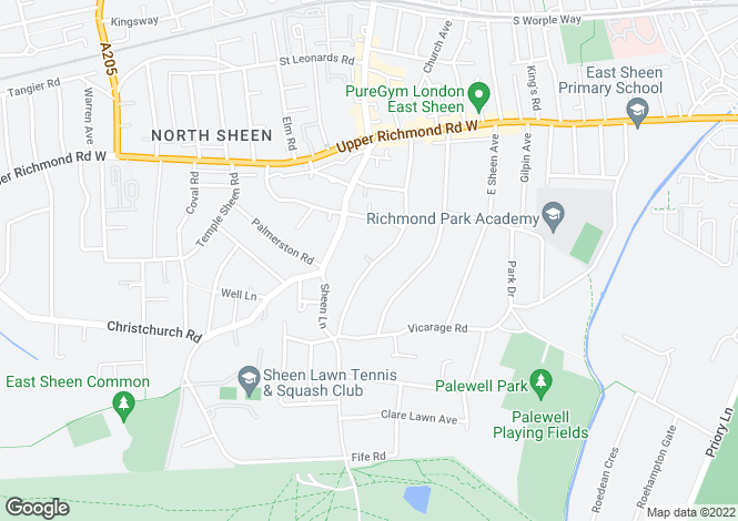 Map for Richmond Park Road