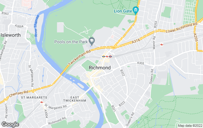 Map for Chancellors, Richmond Lettings