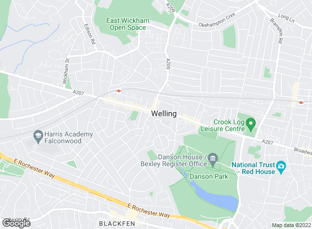 Map for Robinson Jackson, Welling
