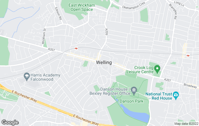 Map for Wards, Welling
