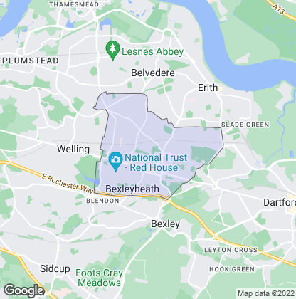 Map of property in Bexleyheath