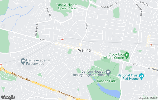 Map for Hummerstone & Hawkins, Welling