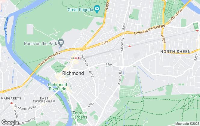 Map for Fitz-Gibbon, Richmond