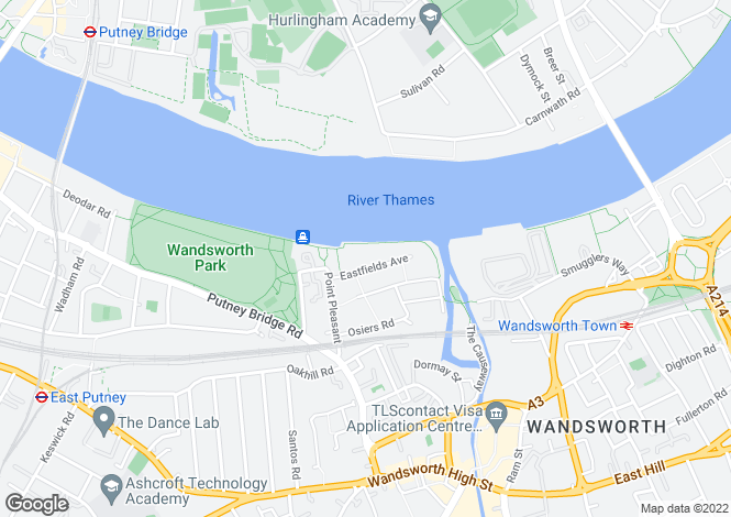 Map for Coptain House, Riverside Quarter, Wandsworth, London SW18