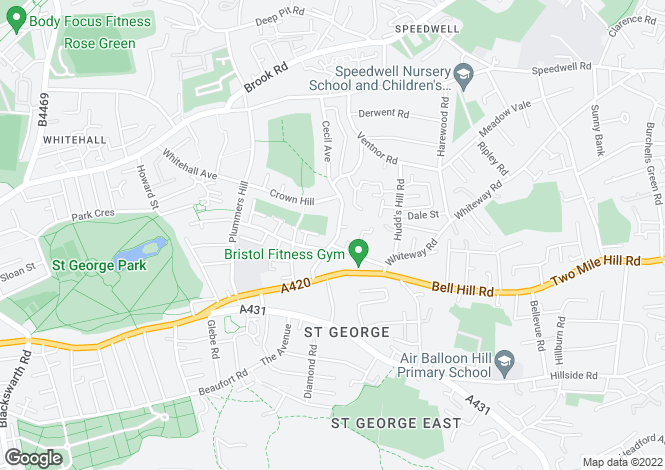 Map for Holmes Hill Road, BRISTOL, BS5 7HJ