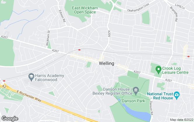 Map for Anthony James Residential, Welling