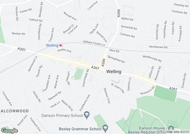 Map for Bellegrove Road, Welling, DA16
