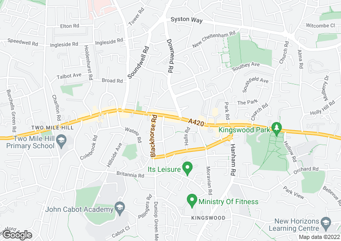 Map for Regent Street, Kingswood, BRISTOL