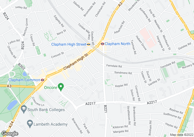 Map for Cato Road, Clapham, London, SW4 7TU