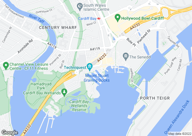 Map for Harbour Point, Mermaid Quay, Cardiff