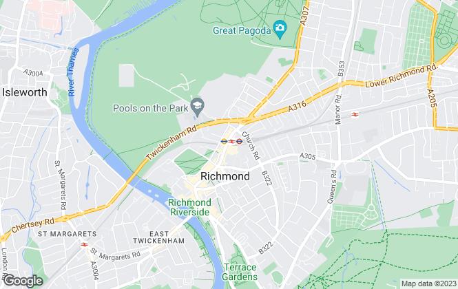 Map for Foxtons, Richmond