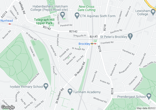 Map for Revelon Road, Brockley, SE4