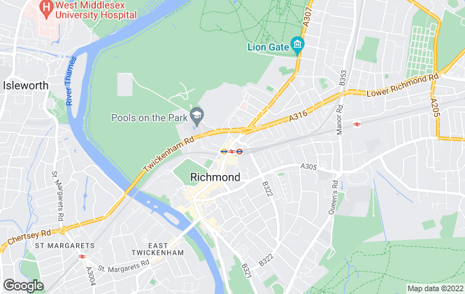 Map for Winkworth, Richmond