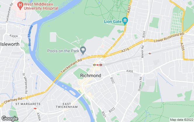 Map for Antony Roberts Estate Agents, Richmond - Lettings