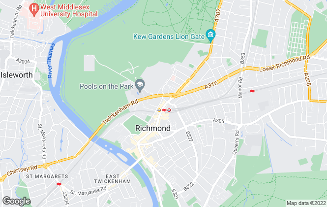 Map for Antony Roberts Estate Agents, Richmond - Sales