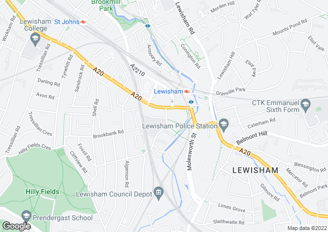 Map for LOAMPIT VALE, LEWISHAM, LONDON, SE13 7DJ