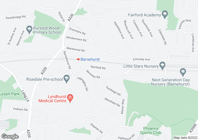 Map for Northall Road, Bexleyheath DA7