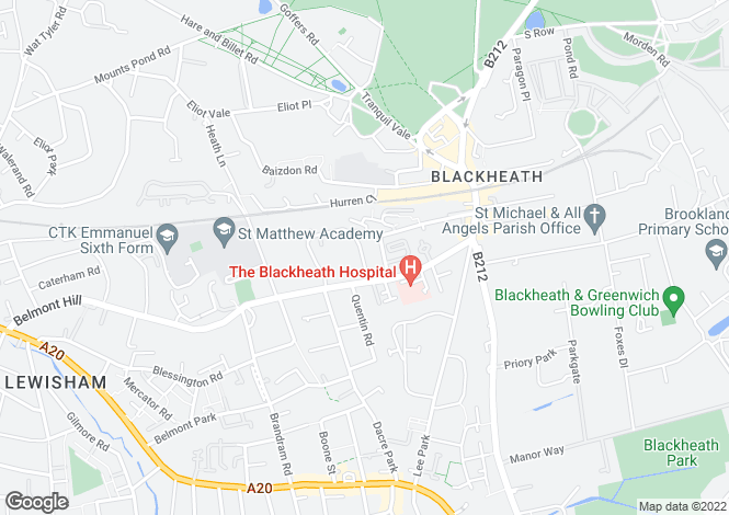 Map for The Glebe Blackheath  SE3