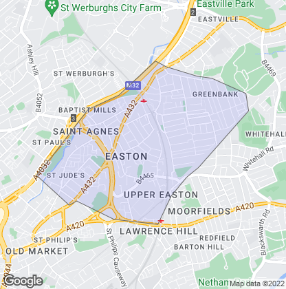 Map of property in Easton