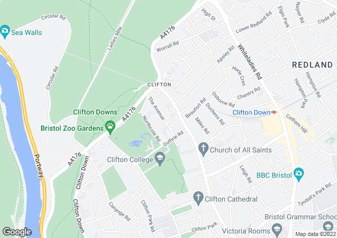 Map for The Avenue, Clifton