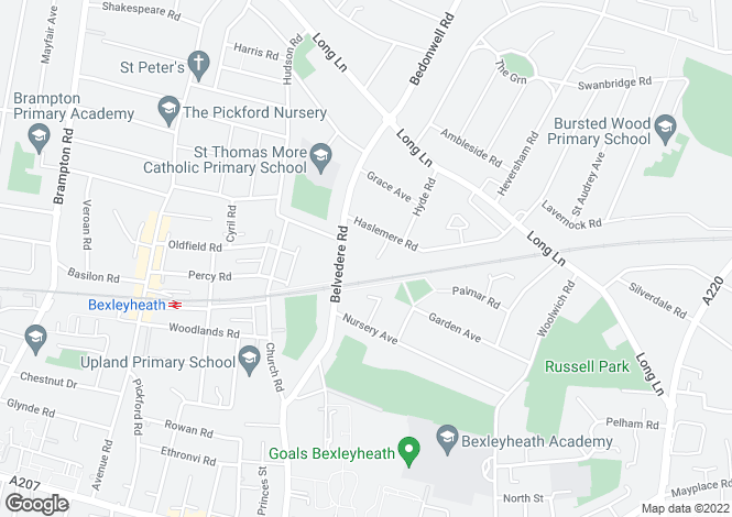 Map for Lonsdale Road, Bexleyheath