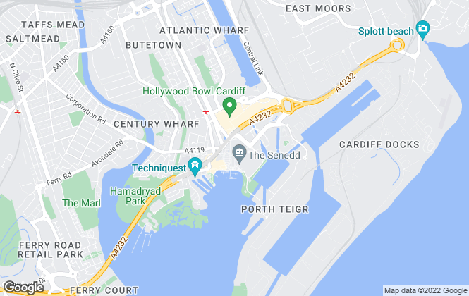 Map for Knight Frank, Cardiff - Commercial