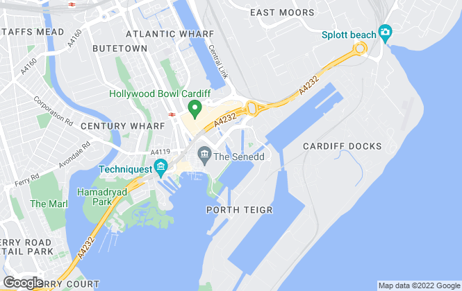 Map for Cardiff Apartments, Cardiff