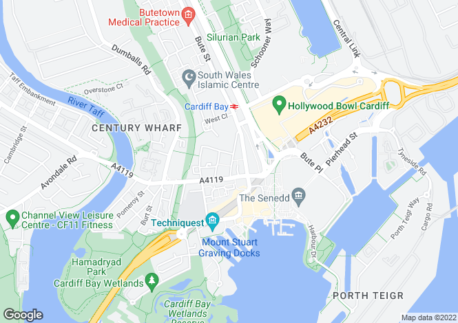 Map for Bay Chambers, Cardiff Bay (Commercial)