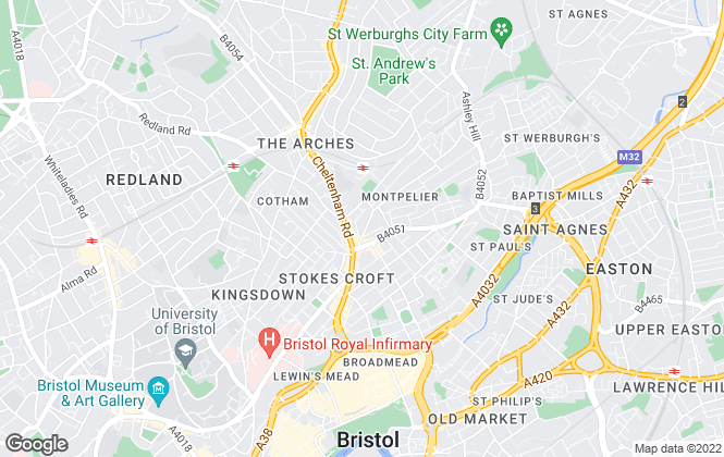 Map for Joseph Alexander, Bristol - Sales
