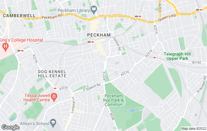 Map for Kinleigh Folkard & Hayward - Lettings, Peckham
