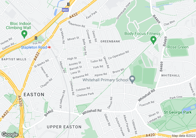 Map for Easton, Bristol, BS5 6BJ