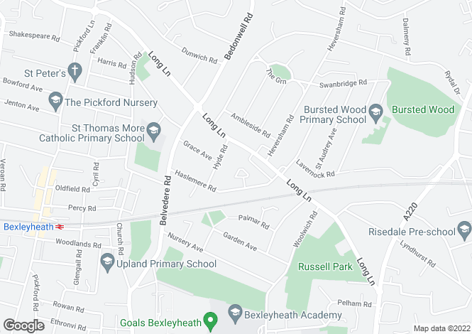 Map for Derwent Crescent, Bexleyheath, Kent, DA7 4NH