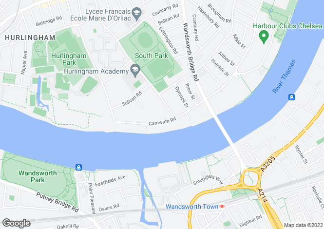 Map for London SW6