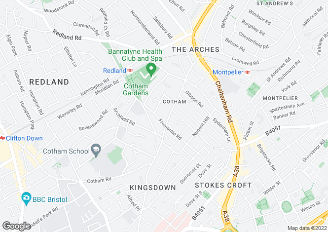 Map for Cotham Brow, Cotham