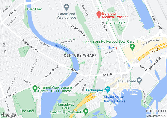 Map for Penstone Court, Cardiff Bay