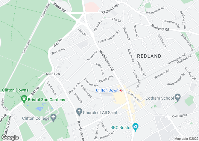 Map for Clifton, Hurle Crescent, BS8 2TA