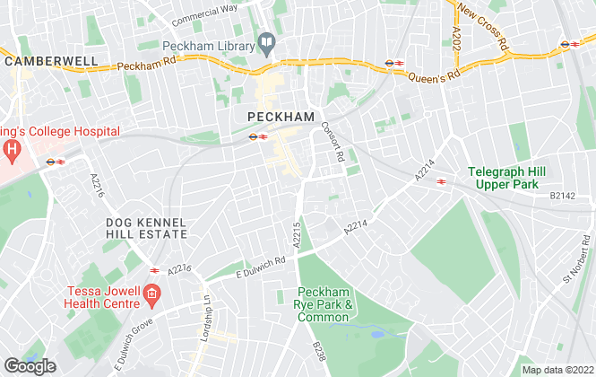 Map for Foxtons, Peckham